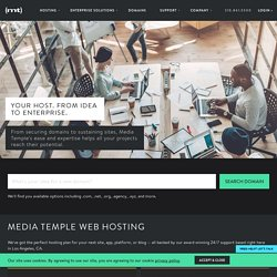 Web Hosting Services: Linux Server Hosting by Media Temple