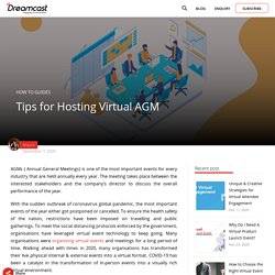 Tips for Hosting Virtual AGM (Annual General Meeting)
