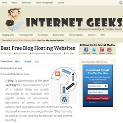 Best Free Blog Hosting Websites » Blogging Geeks