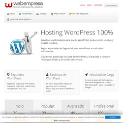 Hosting WordPress - Hosting para WordPress en español