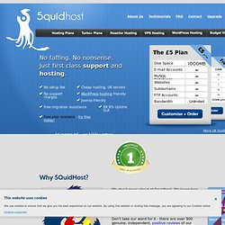 UK Joomla hosting, free PHP hosting, unlimited MySQL databases.