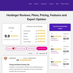 Hostinger Review : Expert Feedback on Features, Plans and More!