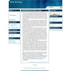 Web HostingUnlimited Reseller Hosting in India