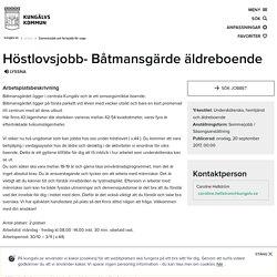 Höstlovsjobb- Båtmansgärde äldreboende - kungalv.se