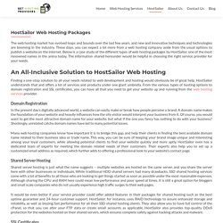 HostSailor Case Study: Web Hosting Packages & benefits from HostSailor