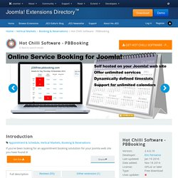 Hot Chilli Software - PBBooking