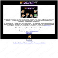 Hot Potatoes Tutoriel français