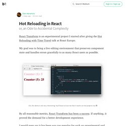 Hot Reloading in React