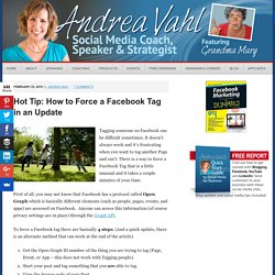 Hot Tip: How to Force a Facebook Tag in an Update