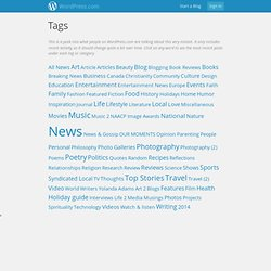 Hot Topics on WordPress.com - TAGS