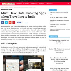 Must-Have Hotel Booking Apps when Travelling to India