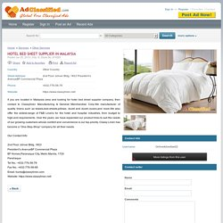 Hotel Bed Sheet Supplier In Malaysia