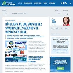 » Hôteliers: ce que vous devez savoir sur les agences de voyages en ligne