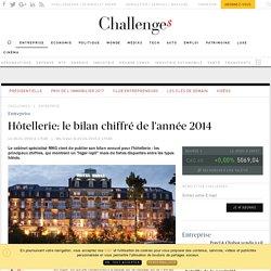 Hôtellerie: le bilan chiffré de l'année 2014 - Challenges.fr