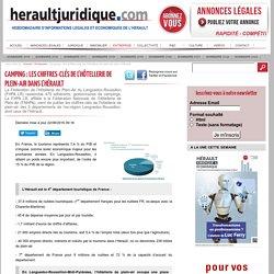 Camping : les chiffres-clés de l'hôtellerie de plein-air dans l'Hérault — Hérault Juridique et économique