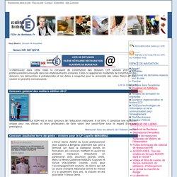 Site d'Economie et Gestion de l'Académie de Bordeaux - Filière Gestion Hotellerie Restauration