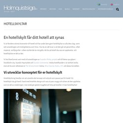 HOTELLSKYLTAR - Holmquistsign