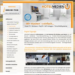 Digital Signage - Eichberg HOTELMEDIEN GmbH Süd - Bundesweit