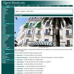 Hôtels Algérie - Liste des Hôtels Algériens