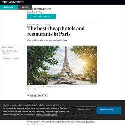 The best cheap hotels and restaurants in Paris
