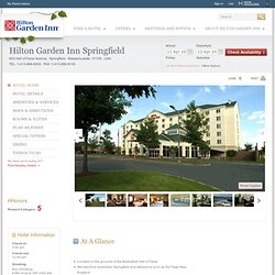 Springfield Massachusetts Hotels - Hilton Garden Inn Springfield Hotel, MA