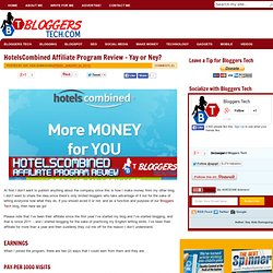 HotelsCombined Affiliate Program Review – Yay or Ney?