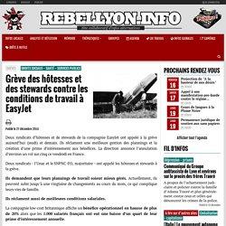 Grève des hôtesses et des stewards contre les conditions de travail à EasyJet - Rebellyon.info