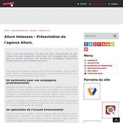 Allure Hotesses - Présentation de l'agence Allure - Social-FeedBack.Net