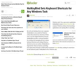 How to sets keyboard shortcuts for any windows task with HotKeyB