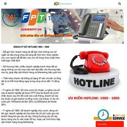 Đăng ký số Hotline FPT - Đầu số 1900 - 1800 hỗ trợ doanh nghiệp