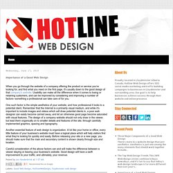 Importance of a Good Web Design