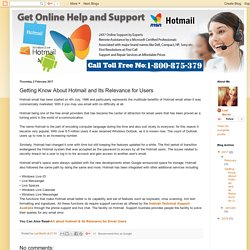Hotmail Support Australia: Getting Know About Hotmail and Its Relevance for Users