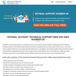 Hotmail Customer Service 0800-090-3884 Support Number UK