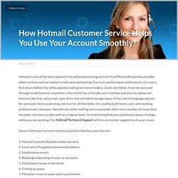 How Hotmail Customer Service Helps You Use Your Account Smoothly?