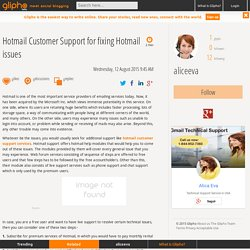 Fix issues with the Hotmail Customer Service