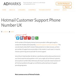 Hotmail Customer Support Phone Number UK