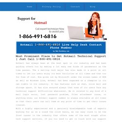 Hotmail Customer Care 1-866-491-6816 Support/Service/Help Number