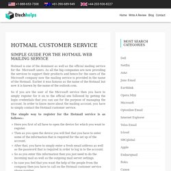 Hotmail Customer Service 1-844-389-5696 Technical Support Number