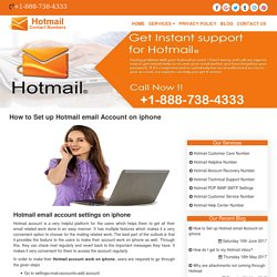 How to Set up Hotmail email Account on iphone