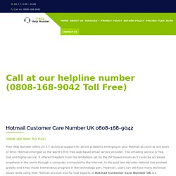 Hotmail Helpline Number UK 0808-168-9042 Hotmail Phone Number UK