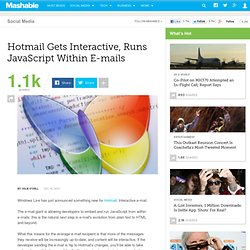 Hotmail Gets Interactive, Runs JavaScript Within E-mails