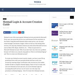 Hotmail Login & Account Creation Guide