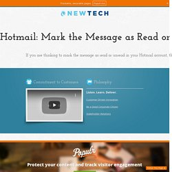 Hotmail: Mark the Message as Read or Unread