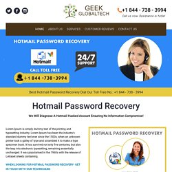 Hotmail Password Recovery 1-844-738-3994 for Hotmail Hacked Account