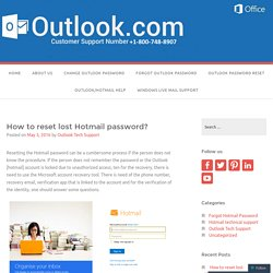 How to reset lost Hotmail password? – Outlook Technical Support Phone Number +1-800-748-8907