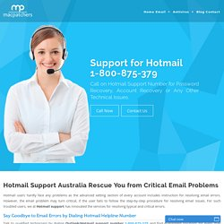 Hotmail Support Australia Phone Number 1-800-875-379