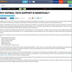 Why Hotmail Tech Support Is Beneficial?