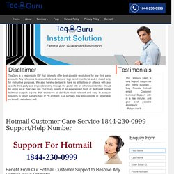 Hotmail Support Help Contact 1-844-745-1521 Service Number