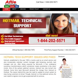 Hotmail Tech Support Number