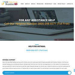 Hotmail Support Number UK +44-800-098-8371 Hotmail Contact Number UK